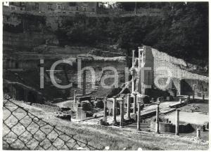 1981 VOLTERRA (PI) Resti del teatro romano - Veduta del proscenio ^Foto 18x13