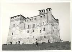 1974 GRINZANE CAVOUR (CN) - Veduta del castello medievale *Foto 18x13 cm