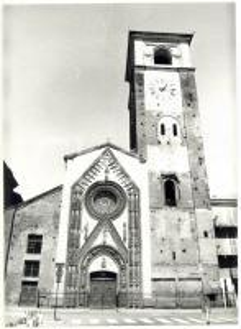 1978 CHIVASSO (TO) Facciata della chiesa collegiata di Santa Maria Assunta *Foto