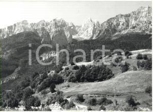 1982 MOLVENO (TN) Veduta panoramica delle Dolomiti di Brenta *Foto 18x13 cm