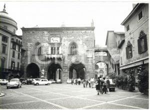 1973 BERGAMO Piazza Vecchia - Il Palazzo della Ragione *Fotografia 18x13 cm