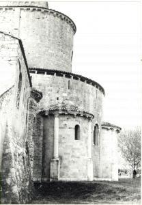 1980 CASTELNUOVO DELL'ABATE Abbazia di Sant'Antimo - Veduta esterna dell'abside