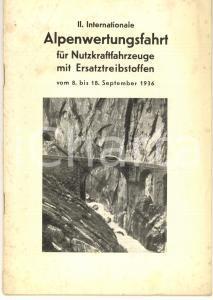 1936 INTERNATIONALE Alpenwertungsfahrt für Nutzkraftfahrzeuge - Volume 8 n° 18