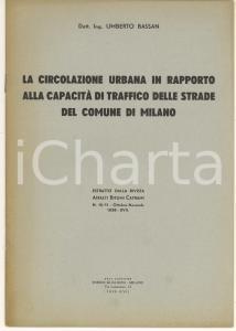 1939 Umberto BASSAN La circolazione urbana in rapporto alla capacità di traffico