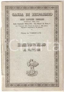 1949 VIMERCATE Cassa di risparmio provincie lombarde *Libretto di risparmio