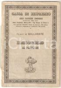 1942 GALLARATE Cassa di risparmio provincie lombarde *Libretto di risparmio