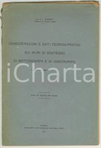1917 Carlo Isnario AZIMONTI Dati teorico-pratici muri di sostegno di sottoscarpa