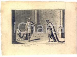 1780 A. F. BUSCHING Imperadore dell'Abissinia o PRETE GIANNI Gran Negus - Tavola