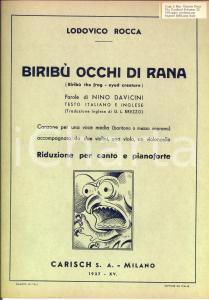 1937 Lodovico ROCCA Biribù occhi di rana - Spartito canto e pianoforte *CARISCH