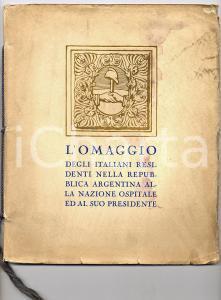 1926 MILANO Monumento Italiani residenti in ARGENTINA *Bestetti e Tumminelli