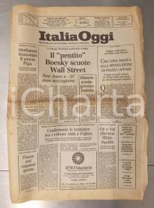 1986 ITALIA OGGI Inchiesta Ivan Boesky - Boom della Borsa - Giornale anno I n° 1