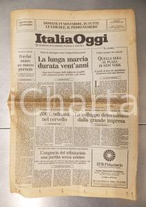1986 ITALIA OGGI Industrializzazione e sindacato ottuso - Giornale anno I n° 0