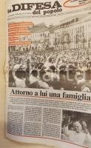 1982 PADOVA LA DIFESA DEL POPOLO Visita di Giovanni Paolo II *Giornale