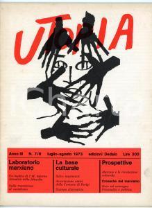 1973 UTOPIA Laboratorio marxiano - Un inedito di T. W. Adorno  *Anno III N° 7/8
