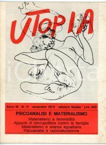 1973 UTOPIA Psicoanalisi e materialismo *Rivista VINTAGE anno III - N° 11