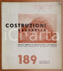 1943 COSTRUZIONI CASABELLA Circolo ippico a Bologna *Rivista anno XVI n° 189
