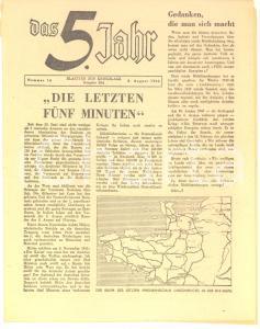 August 1944 WW2 DAS 5. JAHR Blätter zur Kriegslage - Amerikanischer in Bretagne