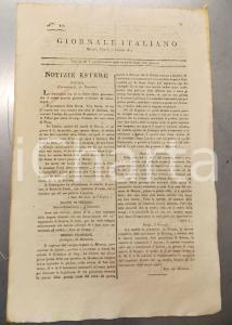 1811 REGNO D'ITALIA - GIORNALE ITALIANO - Classificazione strade di Milano