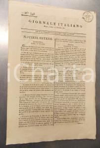 1811 REGNO D'ITALIA - GIORNALE ITALIANO - Dimissioni commissario Desirat - n°348
