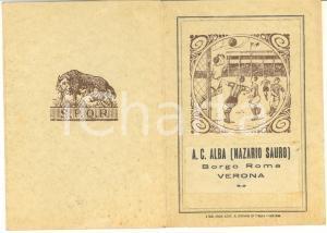 1937 VERONA  - A.C. ALBA (Nazario Sauro) - Tessera di riconoscimento