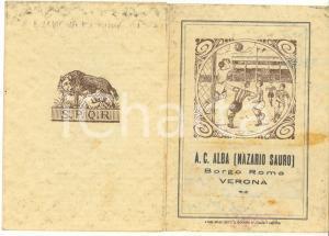 1936 VERONA  - A.C. ALBA (Nazario Sauro) - Tessera di riconoscimento