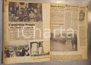 1940 WW2 ITALIA Rassegna stampa con bollettini di guerra e immagini - 100 pp.
