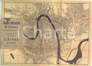 1950 ca VERONA Guida stradale con mappa - 143 pp. Edizioni S.I.E.P.