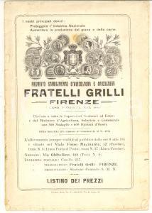 1927 FIRENZE Ditta FRATELLI GRILLI Avicoltura e Apicoltura - Listino ILLUSTRATO