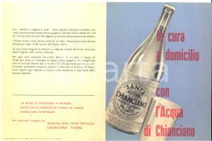 1953 Terme di CHIANCIANO -  ACQUA SANTA - Pieghevole pubblicitario