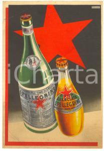1936 S. PELLEGRINO - Aranciata e acqua minerale - Volantino ill. CUSSINO