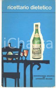 1950 ca Acqua e Terme di ULIVETO - Ricettario dietetico affezioni biliari