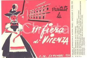 1956 XI FIERA DI VICENZA - Biglietto di ingresso illustrato