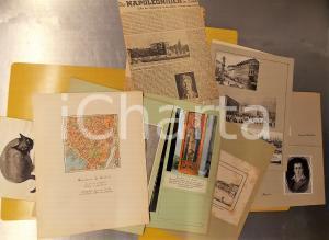 1949 TRIESTE Quartiere SS. MARTIRI - Ricordi - Cartella miscellanea VINTAGE