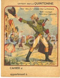 1950 ca FRANCE Bon voyage M. Dumollet - Couverture cahier QUINTONINE