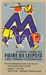 1960 FOIRE DE LEIPZIG Foire technique et d'échantillons ^Biglietto pubblicitario