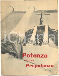 1951 PROPAGANDA NATO Potenza contro prepotenza - Opuscolo illustrato 8 pp. RARO