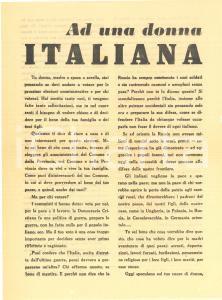 1951 ELEZIONI AMMINISTRATIVE - Propaganda DC - Ad una donna italiana - Volantino