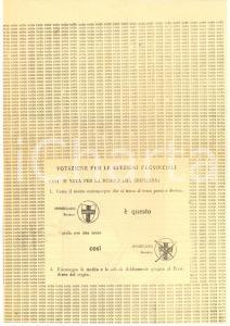 1951 BRESCIA ELEZIONI AMMINISTRATIVE - Propaganda DC - Vota Benedetto MOMBELLONI