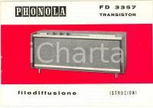 1976 MILANO Ditta FIMI - Radioricevitore PHONOLA FD 3357 - Libretto istruzioni