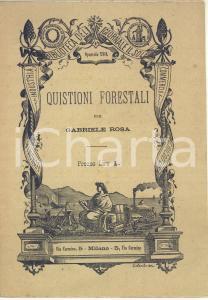 1882 Gabriele ROSA Quistioni forestali - Biblioteca del giornale