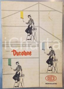 1955 MILANO Ditta MONTECATINI - DUCO - Dipingere la casa con DUCOTONE 13 pp.