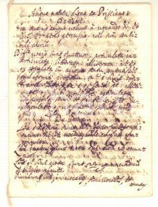 1650 ca PRISCIANO De voce - Aliqua notatu digna - Manoscritto 9 pp.