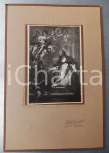 1915 ca ORZINUOVI Estasi di una santa - Foto quadro studio Paolo CARNAGHI