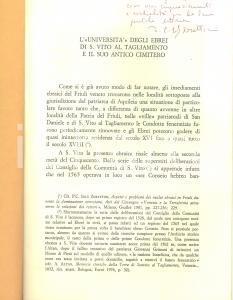 1983 IOLY ZORATTINI L'Università degli ebrei di S. Vito al Tagliamento AUTOGRAFO