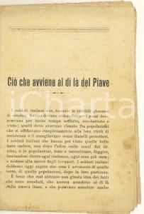 1918 PROPAGANDA WW1 Ciò che avviene al di là del Piave - Opuscolo 31 pp.