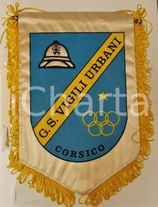 1980 ca CORSICO (MI) G.S. Vigili Urbani - Gagliardetto sportivo 16x24 cm
