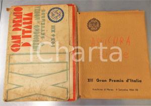 1934 AUTOMOBILISMO MONZA XII Gran Premio d'Italia - Cartella stampa RARA