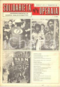 1981 SOLIDARIETA' OPERAIA Industria metalmeccanica a Novara - Lotta FIAT Rivista
