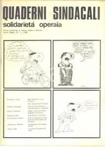 1979 Quaderni Sindacali - SOLIDARIETA' OPERAIA Piano Pandolfi - Rivista