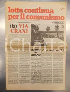 1983 LOTTA CONTINUA PER IL COMUNISMO (La) Via CRAXI a Comiso - Ultimo n°0